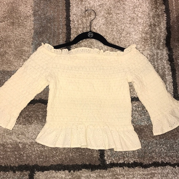 be89e3f0 American Eagle Outfitters Tops   Ae Smocked Off The Shoulder Top ...